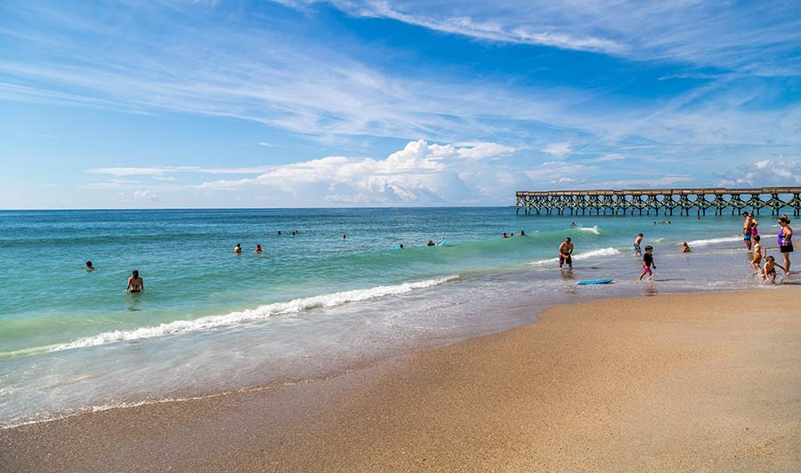 Wrightsville Beach bei Wilmginton, North Carolina
