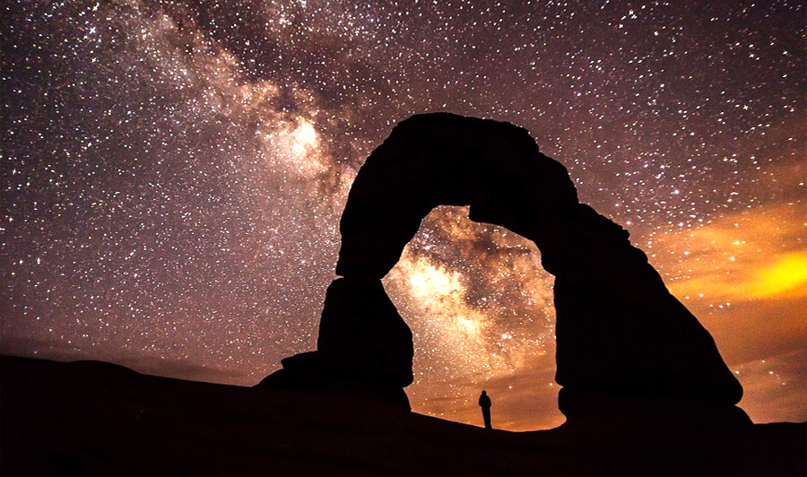 Moab | Delicate Arch bei Nacht
