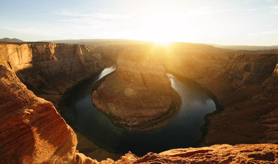 Horseshoe Bend bei Sonnenuntergang