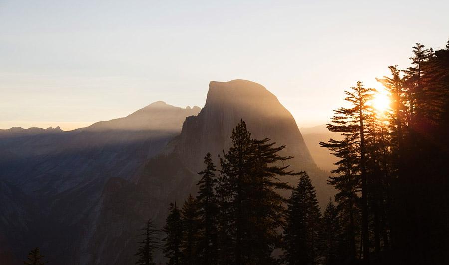 Half Dome Sonnenuntergang