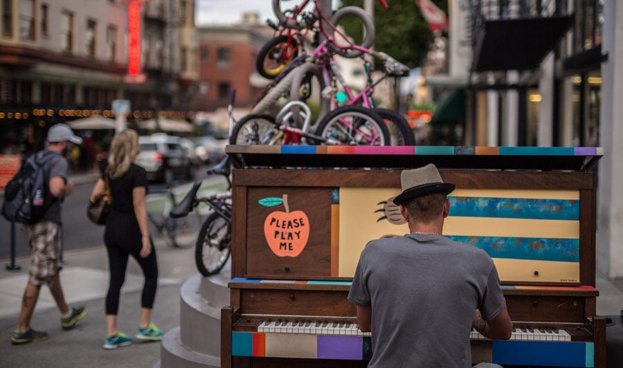 Kunst und Musik sind in Portland zu Hause.