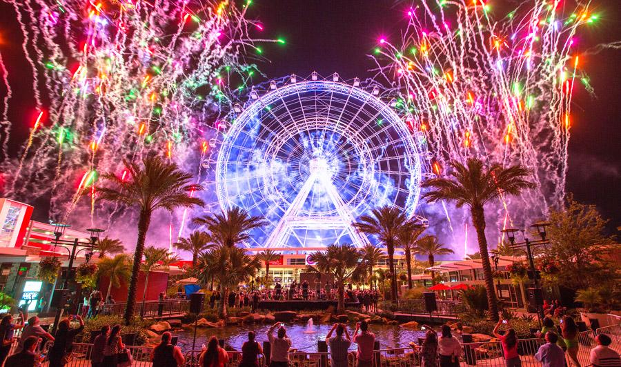 Orlando Eye bei Nacht