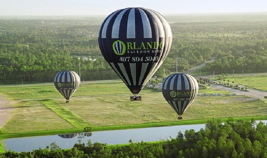 Heißluftballonflug über das seenreiche Orlando