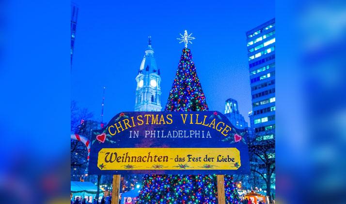 Weihnachtsmarkt in Philadelphia nach deutschem Vorbild