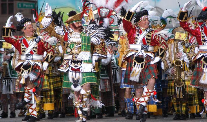 Mummer's Parade am 1. Januar in Philadelphia