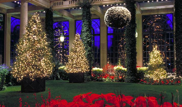 Longwood Gardens zur Weihnachtszeit