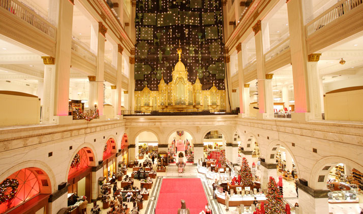 Christmas Lightshow at Macy's Center City Philadelphia