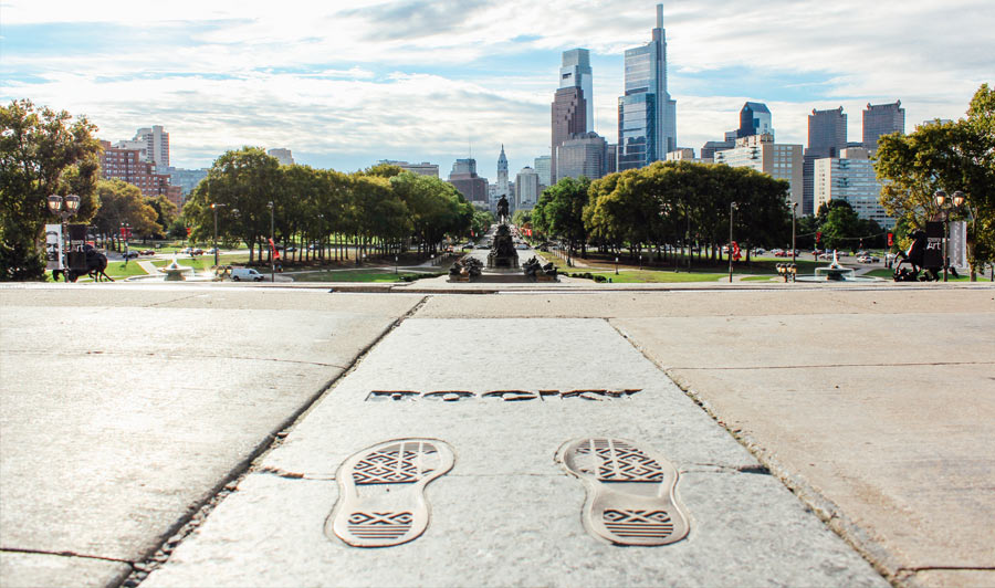 Die Rocky Steps vor dem Philadelphia Museum