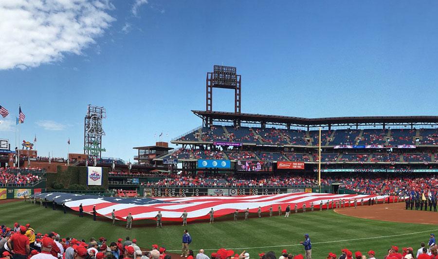 Kurz vor einem Spiel der Philadelphia Phillies