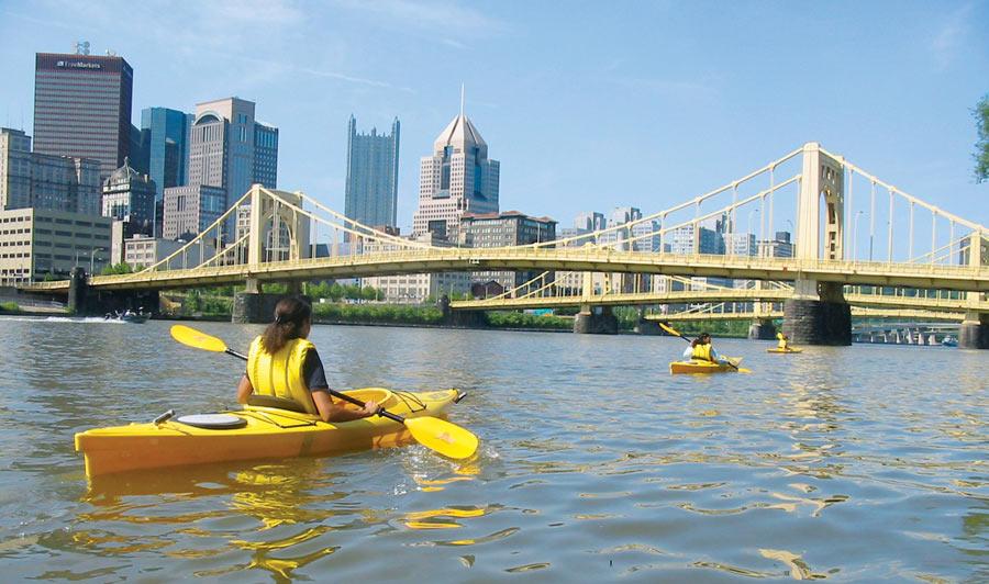 Pittsburgh per Paddel