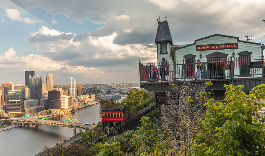 Duquesne Incline Railway | Mit der Schmalspurbahn auf den Mount Washington