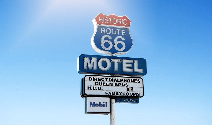 Motelschild Route 66