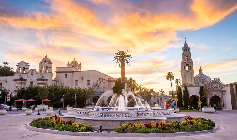 Balboa Park Fountain, San Diego