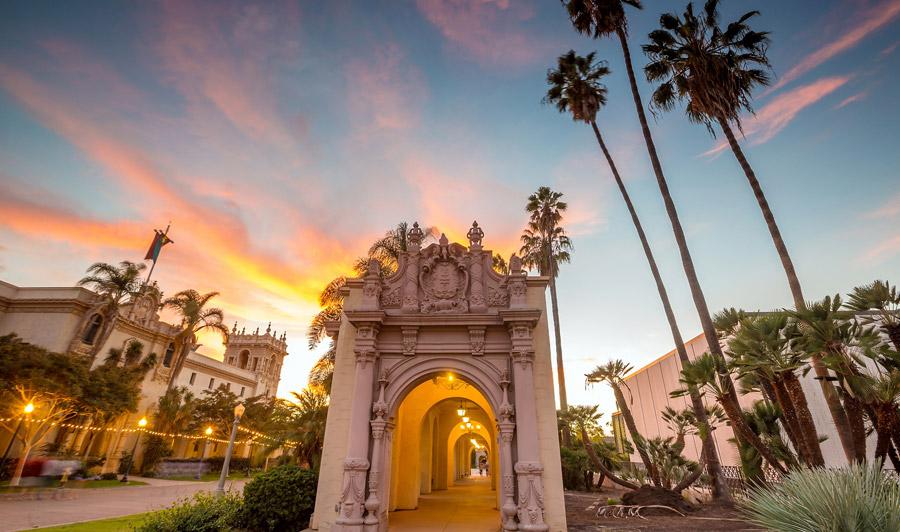 Balboa Park Sonnenuntergang