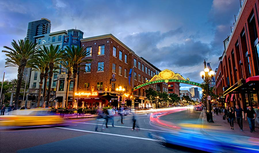 Nighlife in San Diego: das Gaslamp Quarter