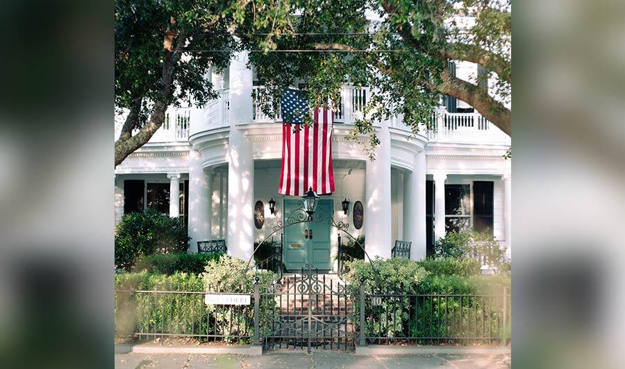 Malerische Südstaatenvillen in Charleston