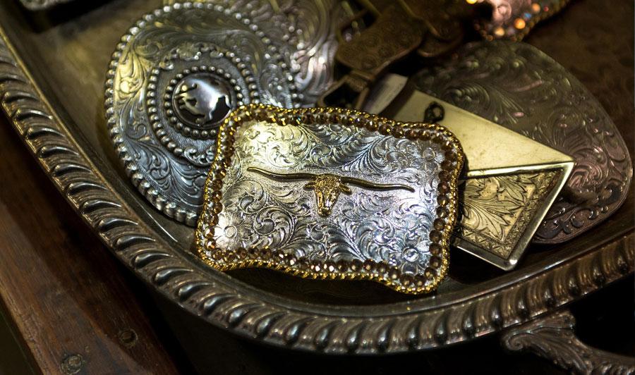 Gürtelschnallen, das typische Cowboy-Accessoire