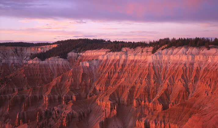 Cedar Breaks National Monument bei Sonnenuntergang
