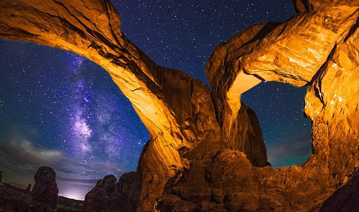 Der Double-Arch im Arches Nationalpark