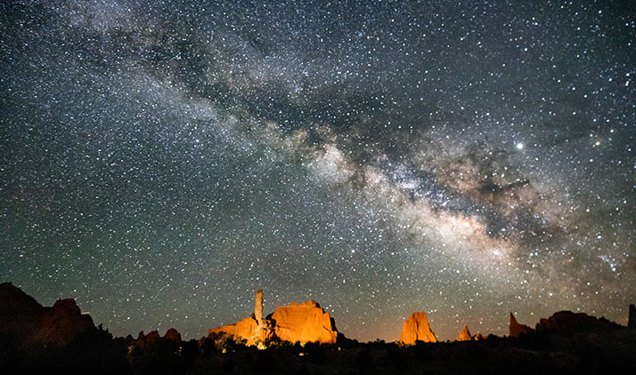 Sternenhimmel über dem Kodachrome Basin State Park