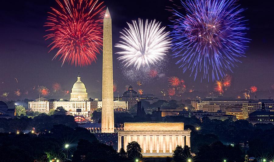 Feuerwerk über Washington D.C.