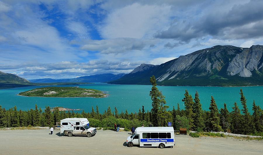 Bove Island am Windy Arm des Tagish Lake, South Klondike Highway