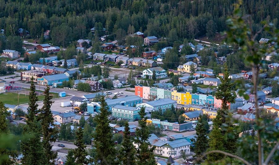 Ehemalige Goldgräberstadt Dawson City