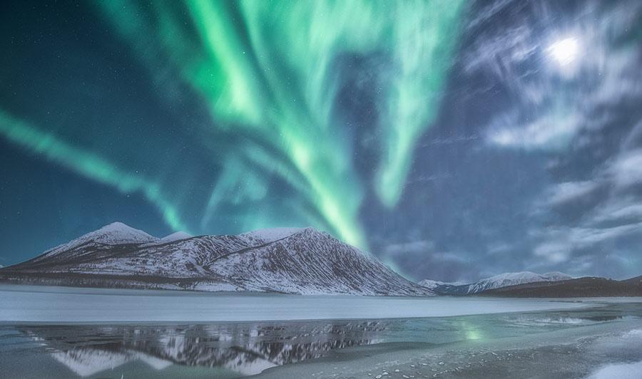 Beeindruckende Nordlichter über dem Yukon
