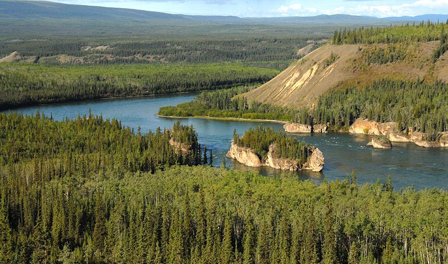 Auf dem North Klondike Highway nach Carmacks | Five Finger Rapids, Klondike Highway
