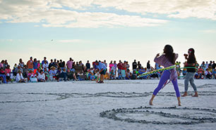 Drum Circle am Siesta Key Beach