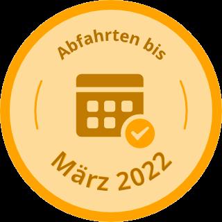 Abfahrten bis März 2022