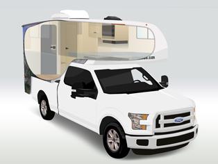 Truckcamper T17 von Cruise America